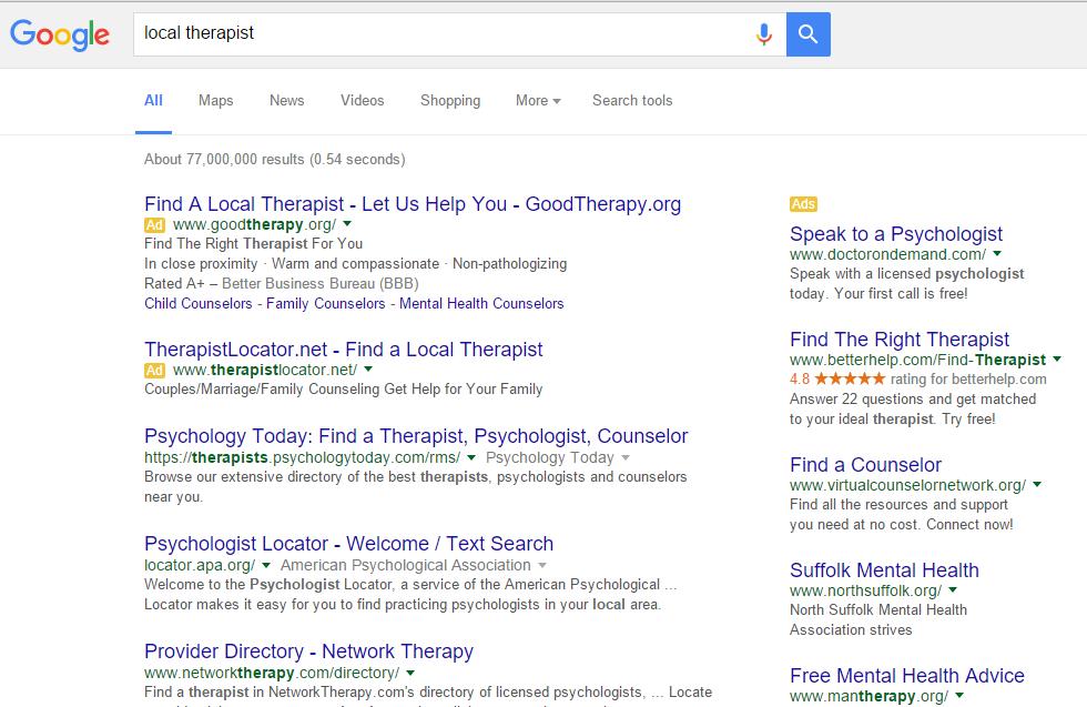 therapist-adwords